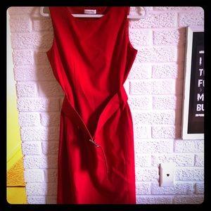 Red Calvin Klein Pencil Dress